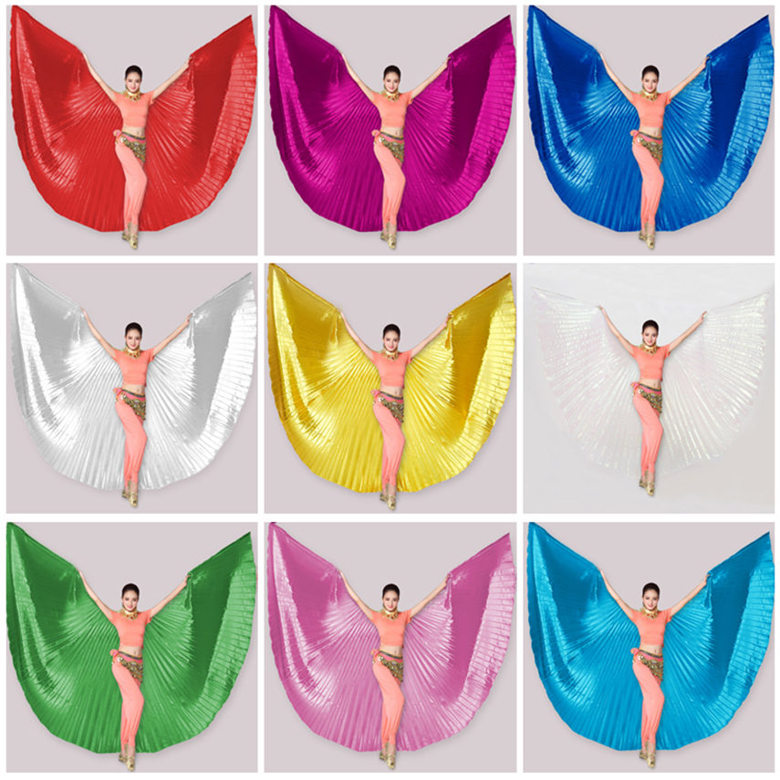11Color Butterfly Wings For Women Belly Dance Gypsy Skirt Practice Stage Wear India Clothing Gold Costume Not Split Wings