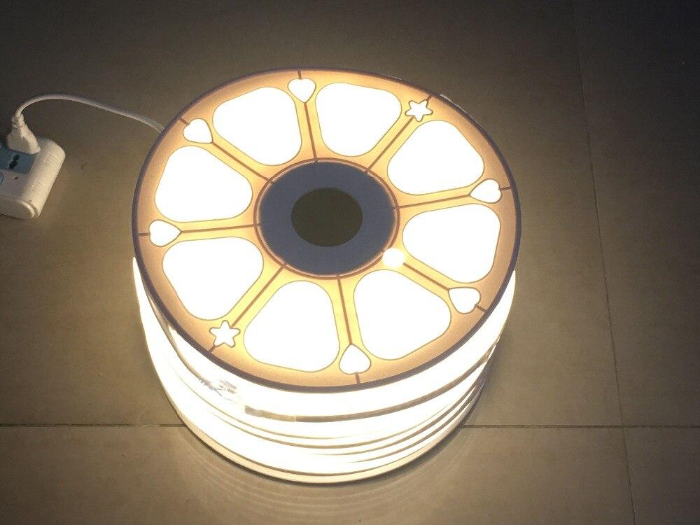 50 m roll ac110v 230 v plugue de alimentacao de alta tensao smd 2835 led striplight