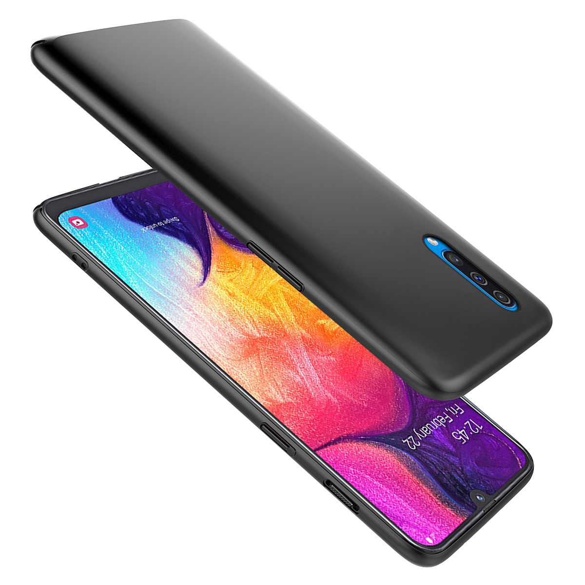 For Samsung Galaxy A50 Case Silicone Ultra Thin Slim Matte Soft TPU Back Cover For Samsung A50 2019 Case Shockproof Funda in Fitted Cases from Cellphones Telecommunications