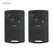 Remtekey 2pcs 4 button 433mhz for Renault Megane III Laguna 3 PCF7952 Smart car key card