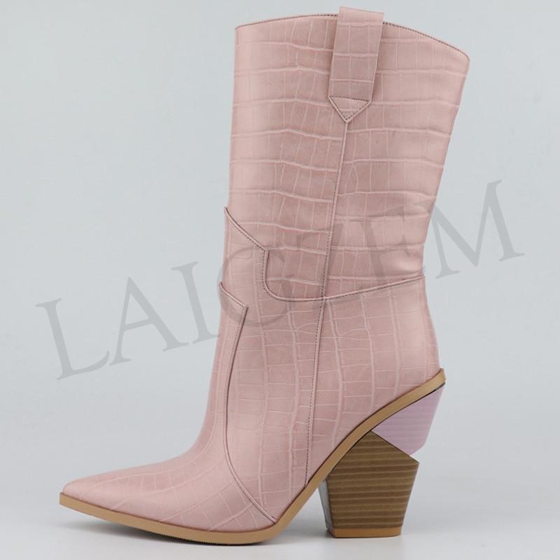 auf Damen Gelb Schuhe Kleine Mid Calf Fashion e Gro Laigzem Cowgirlslip Botas Rosalgz126 Zehensohlen 46 33 Gre Versetztes Frau Lgz126 Schwarzlgz126 Braunlgz126 Boots 1KTFlJc3