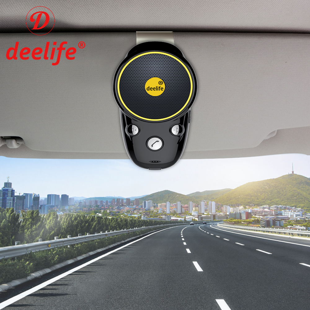 Deelife Bluetooth Handsfree автомобильный комплект беспроводной автомобильный динамик телефон Carkit Солнцезащитный козырек динамик для автомобиля теле...