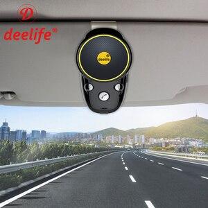 Image 1 - Deelife Handsfree Bluetooth Car Kit Sun Visor Speaker Auto Wireless Speakerphone Carkit for Phone Hands Free