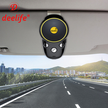 Deelife Handsfree Bluetooth Carkit Zonneklep Luidspreker Auto Draadloze Speakerphone Carkit voor Telefoon Handsfree