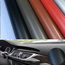 10 см x 100 см кожа зерна винил для автомобиля панель приборной панели внутренний DIY обертывание наклейки клей ПВХ автомобиля Стайлинг стикер
