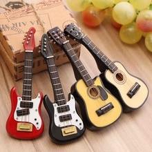 Kiwarm Fashion 1/12 Scale Dollhouse Miniature Guitar Accessories Instr