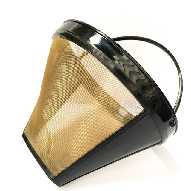 Stainless Steel Easy Clean Reusable Cone-Style Coffee Filter 3