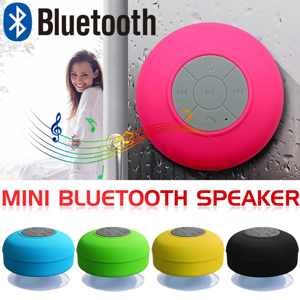 New Bluetooth Speaker Waterproof Wireless Bluetooth Speaker Bathroom Mini Fashionable Musical Wireless Speaker With Suction Cup-in Portable Speakers from Consumer Electronics
