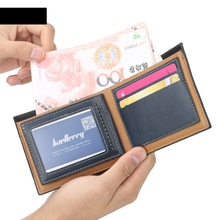 Mens Wallet Europe And United States Short Business Fashion Cross Section Multi-Function Men