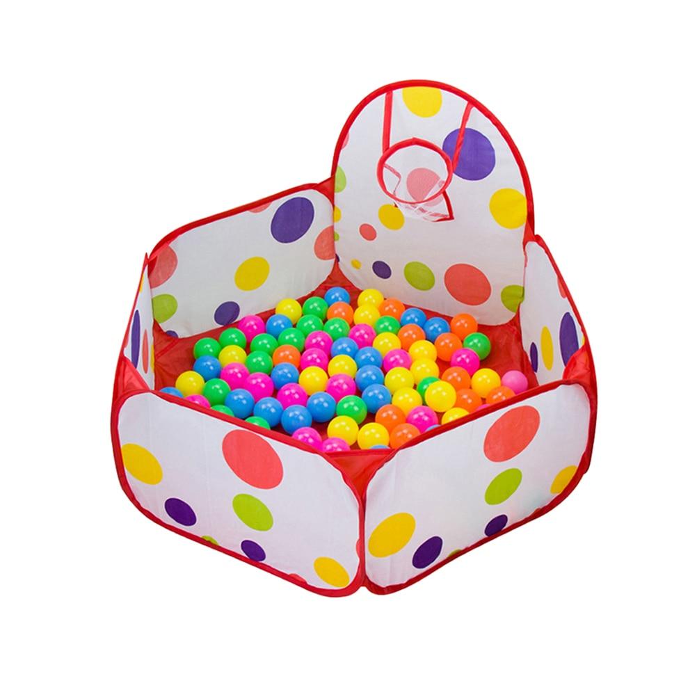 1.2 m Enfants Balle Jouer Tente de Piscine pour Garçons Tout-petits Enfants Maternelle En Gros avec le Cerceau De Basket-Ball 200 pièces Boules