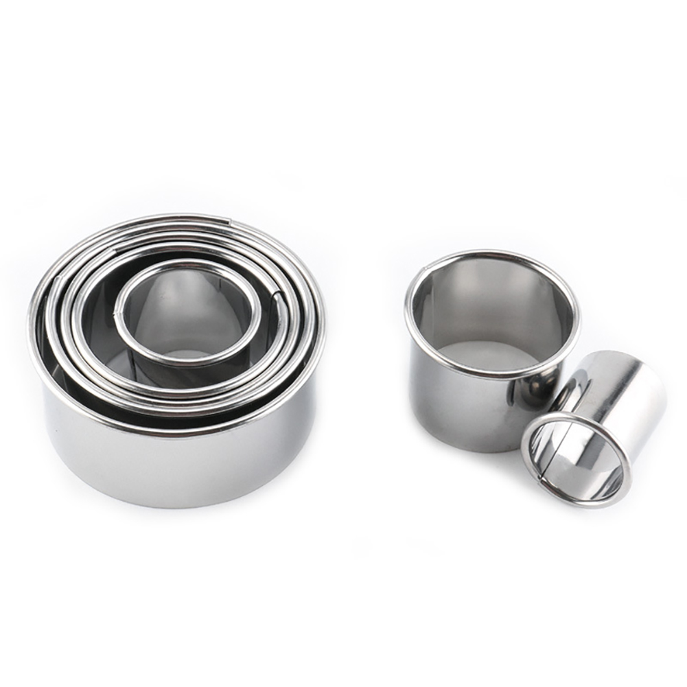 14Pcs Set Stainless Steel Round Mousse Fondant Cake Mold Dumplings Maker Wrappers Molds Cookie Cutter Baking Pastry Cutting Tool in Cake Molds from Home Garden