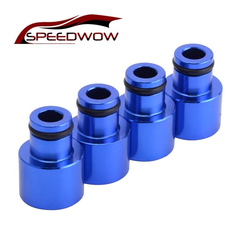 4pcs Car Fuel Injector Hat Nozzle Adapters Alloy For B16 B18 D16Z D16Y FP022