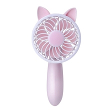Handheld Usb Fan Cooler Portable 3 Speed Adjustable Mini Rechargeable Handy Small Desk Desktop