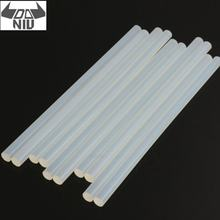 DANIU 10Pcs 11mm x 247mm EVA Clear Hot Melt Glue Adhesive Sticks for Electric Glue Guns Car Audio Craft Repair General Adhesive(China)