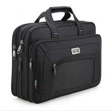 High Capacity Business Men's Briefcase Brand Men Handbags Oxford 15.6 Inch