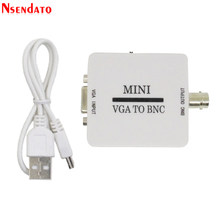 Mini hd vga para bnc conversor de vídeo conversor caixa composto vga para bnc adaptador conversor digital switcher box para monitor hdtv