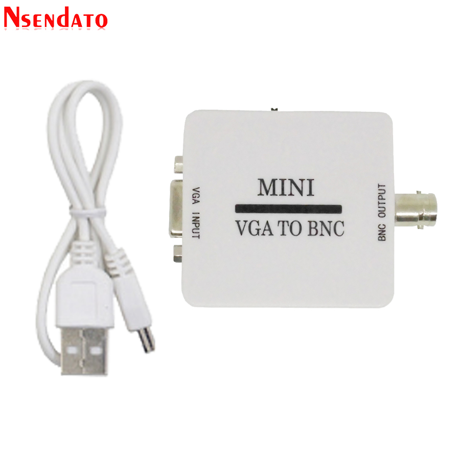 Mini HD VGA auf BNC Video Konverter converter Box Composite VGA zu BNC Adapter Conversor Digitale Switcher Box Für HDTV monitor