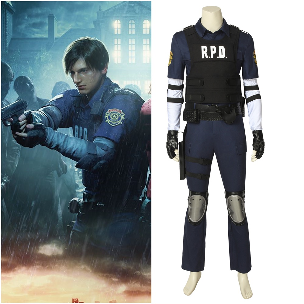 NEW Resident Evil 2 Remake Biohazard Leon Scotty Re:2 Cosplay Costume Customize