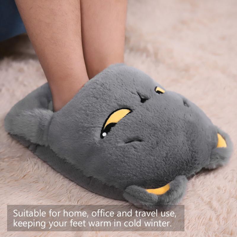 USB обогреватель для ног электрическая грелка, зимняя грелка для ног, экономит энергию, можно стирать, нагретая тапочка для дома, путешествий,...