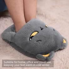 Usb pé mais quente almofada de aquecimento elétrico inverno pés sapatos quentes economia energia seguro lavável aquecido chinelo para o escritório de viagem em casa
