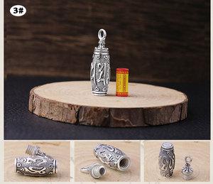 Image 5 - 100% 990 srebrny buddyjski modlitwa Box wisiorek czyste srebro tybetański Gau Box wisiorek prawdziwy srebrny tybetański Ghau Box wisiorek