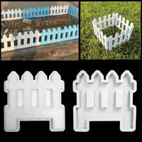 Concrete Molds Garden Fence Plastic Cement Mold Concrete Flower Pool Brick Mold Courtyard Garden Lawn Yard Craft Decoration DIY