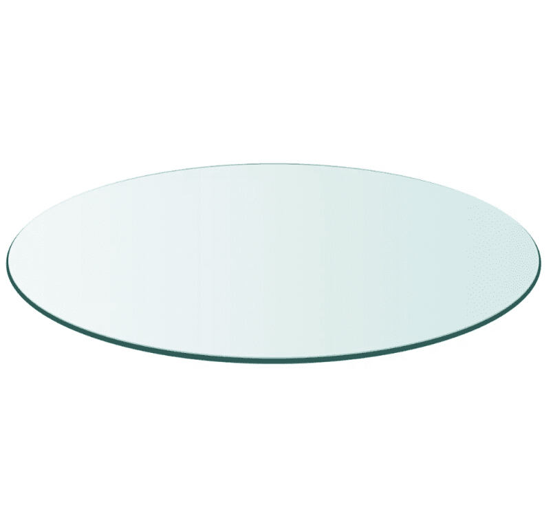 VidaXL Table Top Tempered Glass Round 700 Mm/ 800 Mm Cafe Table Modern Assembly Round Glass