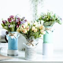 Простая железная ваза цветочный горшок плантатор пасторальный стиль Ремесла домашние украшения креативные садовые украшения украшение дома