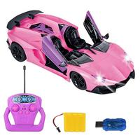 Remote Control Car One Button To Open The Door Automatically Demonstrate The 1:12 Remote Control Sports Car For Kids Gifts