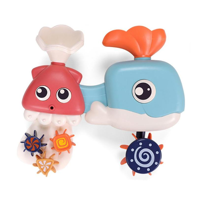Baby Bath Toys Whale Waterwheel Shower Spray Water For