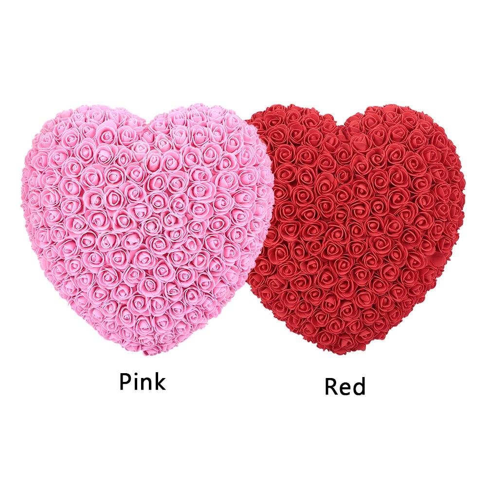Подарок на день Святого Валентина искусственные розы любовь в форме сердца романтические украшения для свадьбы прекрасный подарок украшения для домашнего праздника