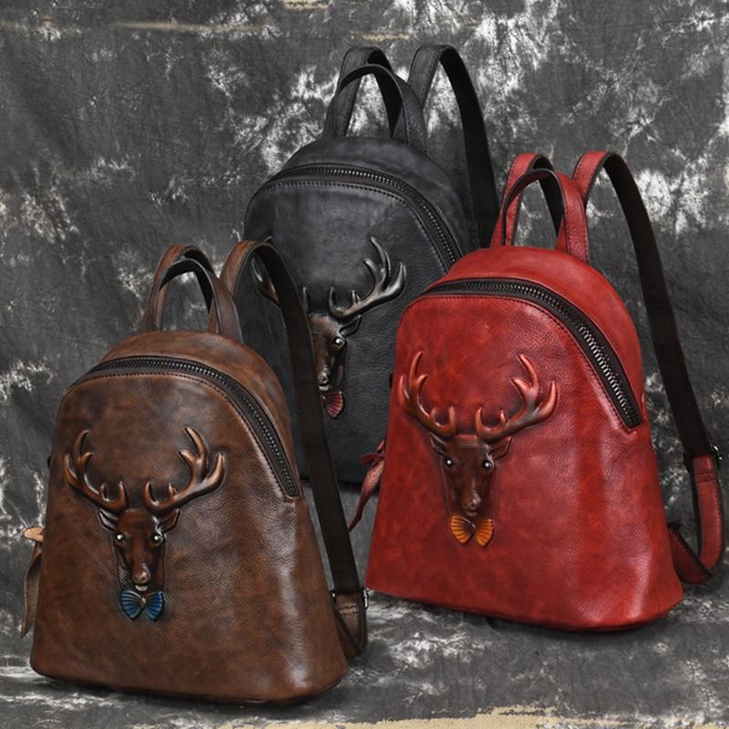 Red Rucksack Farbe coffee black Pinsel Männer Echt Daypack Rindsleder Leder Echtem Vintage Männlichen Qualität Reisetasche Design Aus Knapsack Hohe wqCgaW1xH