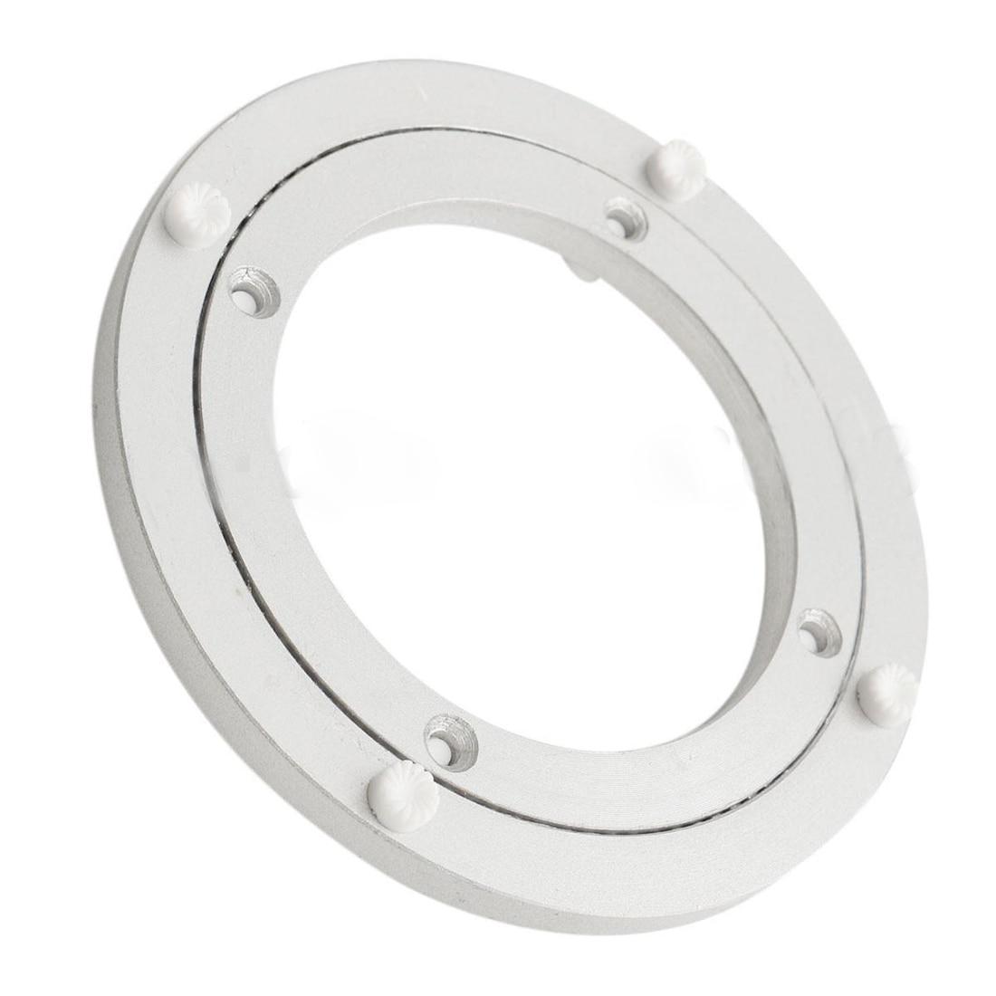Sinnvoll Heißer-aluminium Rotierenden Drehscheibe Lager Schwenk Platte 5 Zoll Silber Möbel Hardware Swivel Platten