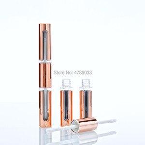 Image 1 - Tubos vacíos de brillo de labios 10/30/50 Uds., DIY, barra de labios de oro rosa de doble cabeza, envase de embalaje vacío para brillo labial, botella de tubo