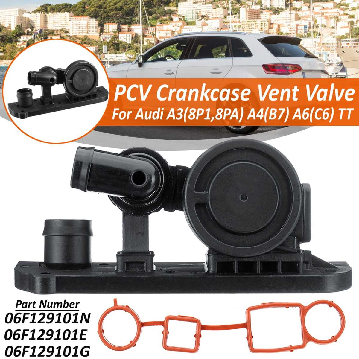 06F129101N  PCV Car Crankcase Vent Valve & Gasket For Audi A3 A4 A6 TT For VW Golf Passat For Jetta 2001-2012 06F129101E