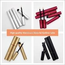 Flacons deyeliner vide en aluminium, flacons pour cils, or, argent, rouge, noir, contenant demballage cosmétique bricolage nouveauté ml, 4ml
