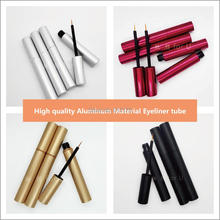 Tubos de aluminio para delineador de ojos botellas de pestañas vacías de 4ml, 3,5 ml, dorado, plateado, rojo, negro, contenedor de embalaje de cosméticos para maquillaje DIY