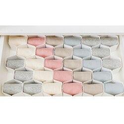 4 cores útil favo de mel gaveta divisor partição organizador roupas íntimas meias grid diy plástico gaveta separador