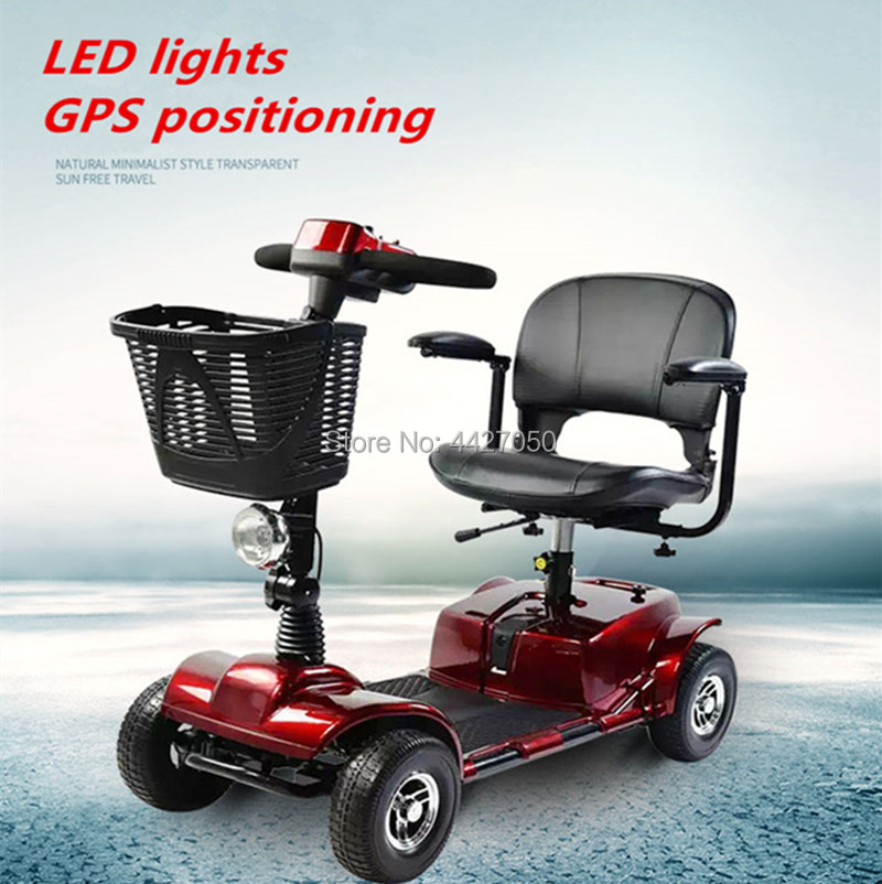 2019 Fashion Four wheel outdoor electric wheelchair scooter for disabled and older