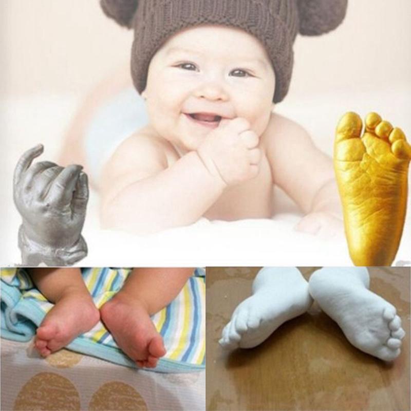 FBIL-3D Hand & Foot Print Mold For Baby Powder Plaster Casting Kit Handprint Footprint Keepsake Gift Memorial