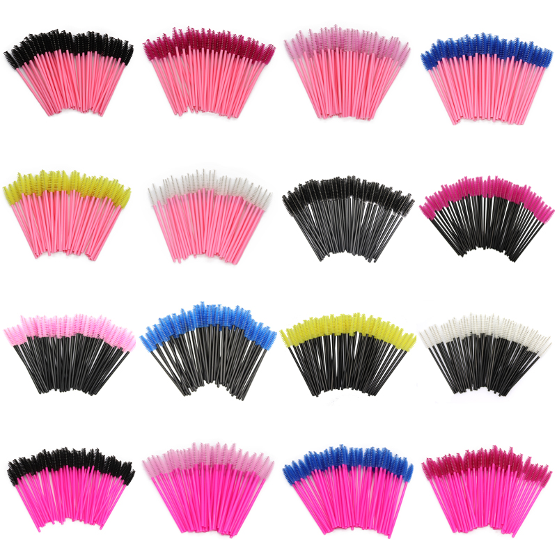 Sinso Eyelash Extension Disposable Eyebrow brush Mascara Wand Applicator Spoolers Eye Lashes Cosmetic Brushes Set makeup tools-in Eye Shadow Applicator from Beauty & Health