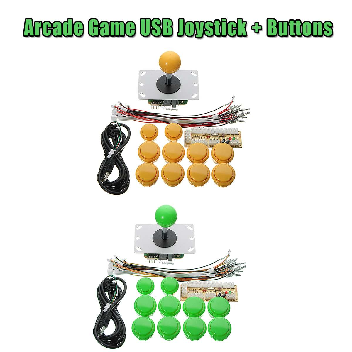 Zero Delay Arcade Joystick DIY LED USB Encoder+Joystick+Shine Push Buttons+Cables For Arcade Game For MAME For Raspberry Pi1/2/3