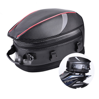 Universal PU leather & Carbon Fiber PVC Fabric Motorcycle Tail Bags Back Seat Bags Kit Travel Bag Rear Seat Rider Bag Pack