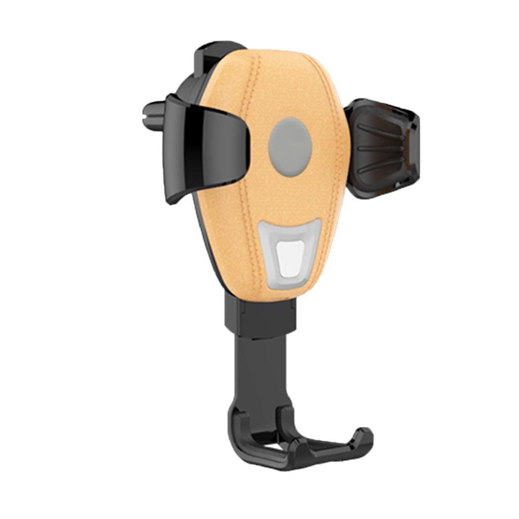 Qi chargeur sans fil rapide sans fil voiture 5 V/2A chargeur Pad Mobile 5 V/1A marron, noir support pour téléphone