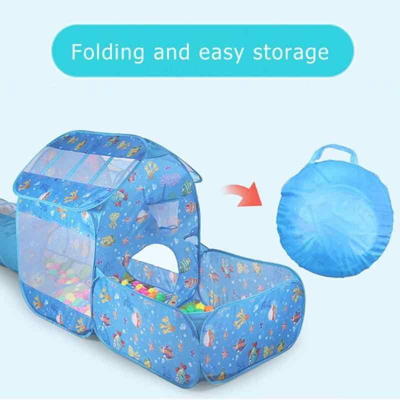 Juego de 2 en 1 tienda plegable al aire libre PISCINA DE BOLAS de océano 2019 niños gateando túnel juego de carpa para bebé niños tienda de campaña juguetes para niños