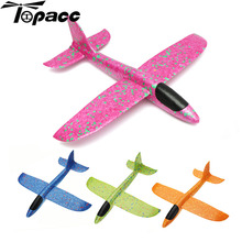 Outdoors Fun Hand Launch Throwing Aircraft 35cm Big Size Airplane DIY Inertial Foam EPP Children Kids Plane Gift Toys