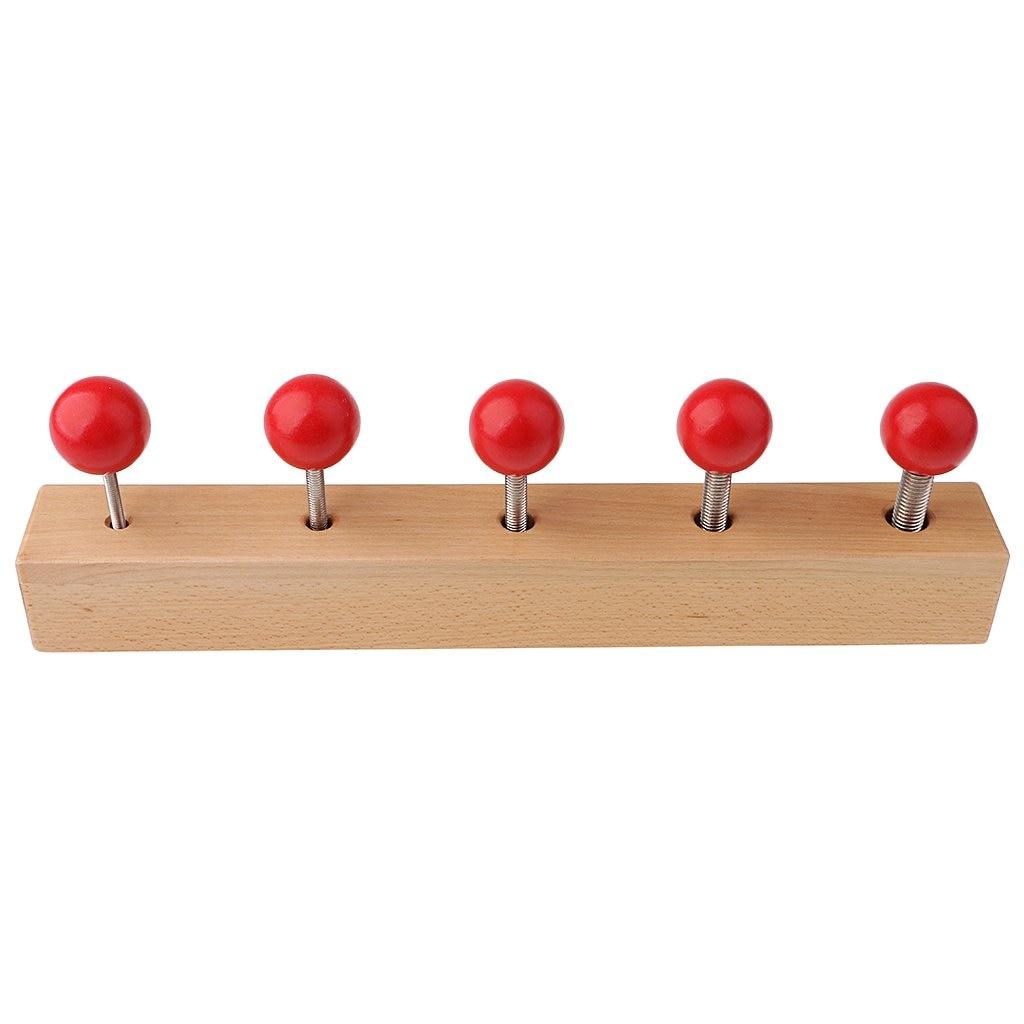 Rouge boulon fileté Sensorielle Développement Jeu Montessori Apprentissage jouets éducatifs cadeaux pour Enfants Enfants En Bas Âge de Bébé