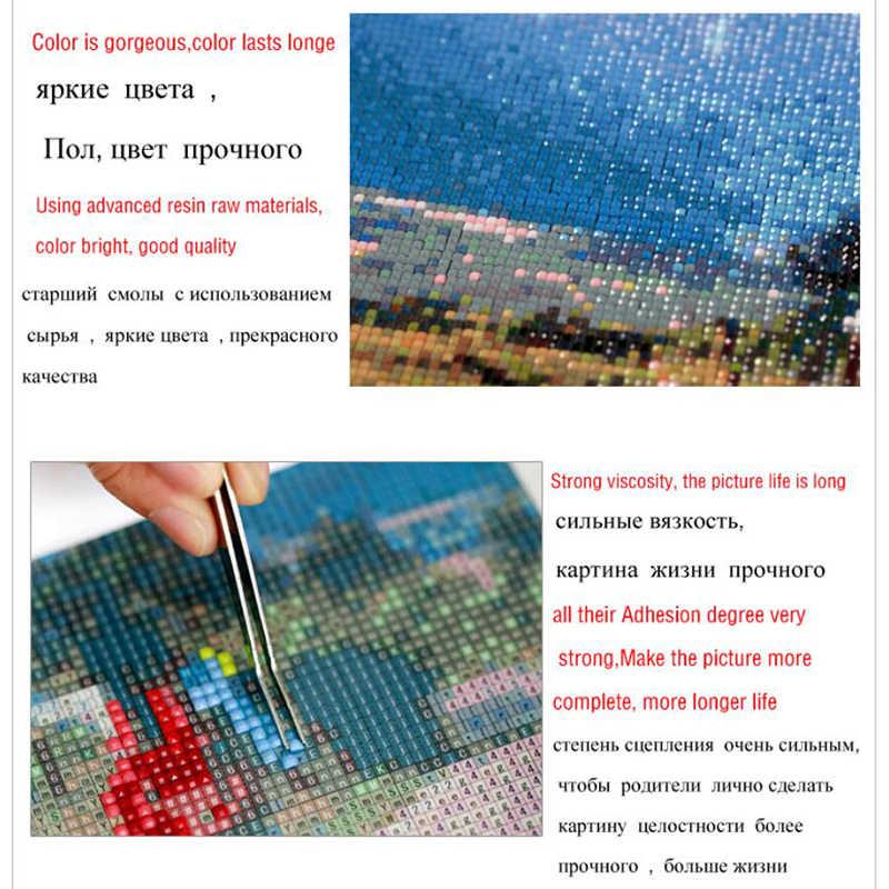 5D bricolage plein carré diamant mosaïque diamant broderie paysage côté mer brodé point de croix décoration de la maison cadeau XY1