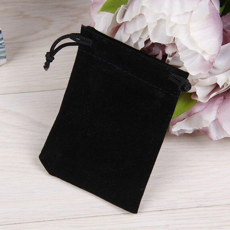 5PCS/lot 9cm*12cm Fashion Jewelry  Bracelet Black Bag Case Jewelry Gift