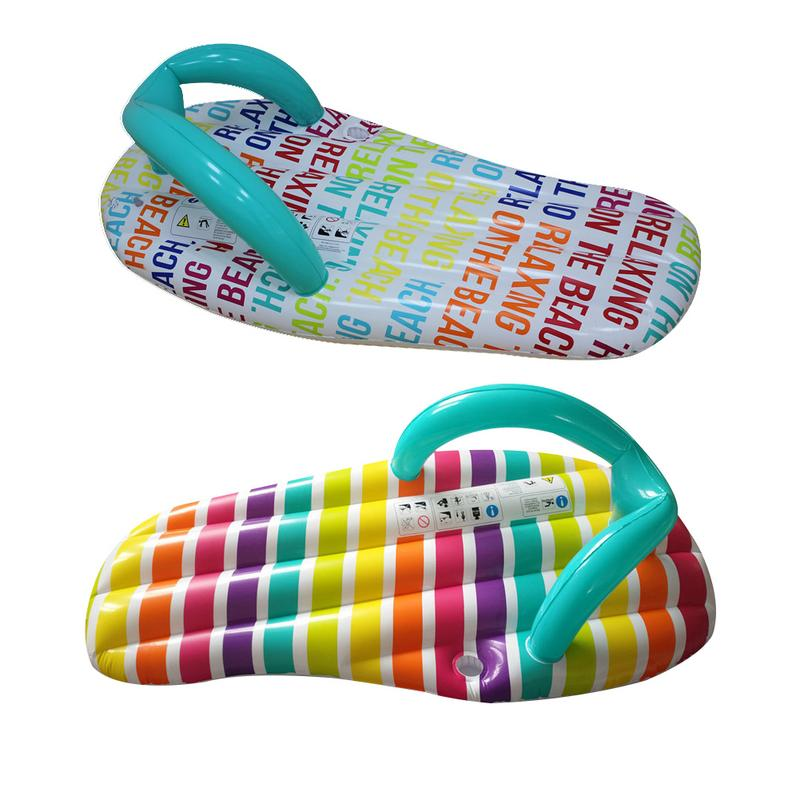Sports & Entertainment Tireless Creative Slippers Shaped Summer Water Floating Row Inflatable Air Mattresses Swimming Pool Lounger Float Relax Floating Chair Delicacies Loved By All Water Sports